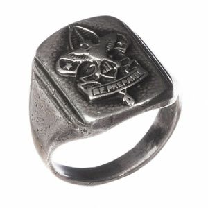 Art Deco Sterling Silver Boy Scout Ring